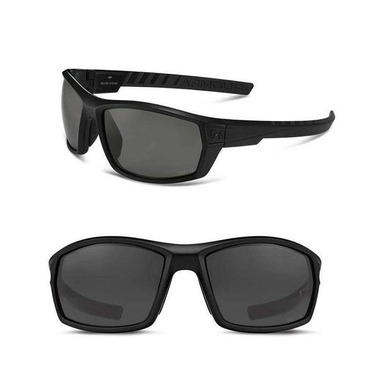4a1eb788c4 Under Armour Ranger Sunglasses - Shiny Black Black Rubber with Grey  Polarized Blue Mirror Storm ... Under Armour Ranger Storm