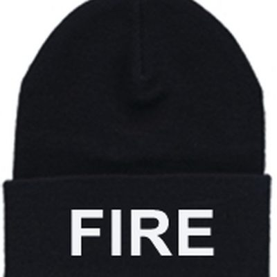 white fire black hat